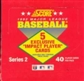 1992 Score Series 2 Baseball Cello Box