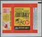 1963 Topps Football Wrapper (5 cents)