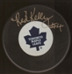 Red Kelly Autographed Toronto Maple Leafs Hockey Puck