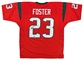 Arian Foster Autographed Houston Texans Custom Jersey - Red (Leaf COA)