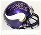 "Adrian Peterson Autographed Minnesota Vikings Football Mini-Helmet ""2007 1st Pick"""