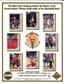 1992 Upper Deck Battle of the Basketball Stars Commemorative Sheet Sample Lot of 10