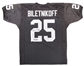 "Fred Biletnikoff Autographed Oakland Raiders Black Football Jersey ""HOF 88"""