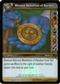 WoW Black Temple Single Blessed Medallion of Karabor (BTT-3) FOIL