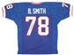 Bruce Smith Autographed Buffalo Bills Blue Football Jersey (Leaf Authentics)
