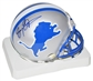 Barry Sanders Autographed Detroit Lions Mini Helmet (Mounted Memories & NFL)