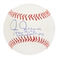 Chris Chambliss Autographed New York Yankees MLB Baseball 76 ALCS Walkoff HR (Leaf)