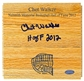 "Chet Walker Autographed Wood Floor Piece w/""HOF 2012"" Inscription (Leaf COA)"