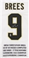 Drew Brees Autographed New Orleans Saints Stat Jersey (GTSM COA)