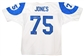 Deacon Jones Autographed Los Angeles Rams White Football Jersey (GTSM COA)