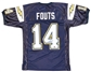Dan Fouts Autographed San Diego Chargers Navy Blue Jersey (Mounted Memories)