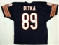 Mike Ditka Autographed Chicago Bears Blue Football Jersey