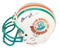 Don Shula Autographed Miami Dolphins All-Time Winningest Coach Mini Helmet (JSA)