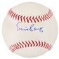 Ernie Banks Autographed Official Major League Baseball (Leaf COA)