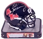 Eli Manning Autographed Ole Miss Rebels Schutt Mini Football Helmet (Press Pass)