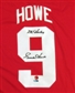 Gordie Howe Autographed Detroit Red Wings Red Jersey  (Mr Hockey)