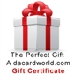 Gift Certificate for $10 worth of anything on dacardworld.com