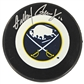 Gilbert Perreault Autographed Buffalo Sabres Throwback Hockey Puck