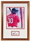 Ken Griffey Jr. Autographed Cincinnati Reds Framed 8X10 (Double Matted) Photo (JSA)