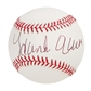 Hank Aaron Autographed Official Major League Baseball (PSA/DNA)