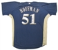 Trevor Hoffman Autographed Game Issued Milwaukee Brewers Authentic Jersey