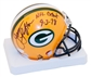 "James Lofton Autographed Green Bay Packers Mini Helmet w/""NFL Debut 9-3-78"" Inscrip. (JSA)"