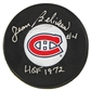 Jean Beliveau Autographed Montreal Canadiens Hockey Puck Icebox COA