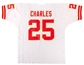 Jamaal Charles Autographed Kansas City Chiefs White Jersey (GTSM)