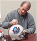 Jim Kelly Autographed Hall of Fame Full-Size Football Helmet