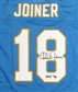 Charlie Joiner Autographed Chargers Throwback Jersey (w/HOF 96' inscrip)