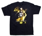 Kobe Bryant Los Angeles Lakers Black Adidas Smoke and Mirrors T-Shirt (Size Medium)