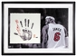 LeBron James Autographed Framed Miami Heat Tegata Lithograph (Upper Deck)