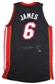LeBron James Autographed Miami Heat Authentic Black Jersey (UDA COA)