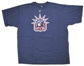 Henrik Lundqvist New York Rangers Navy Reebok T-Shirt (Size Medium)