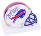 Reggie McKenzie Autographed Buffalo Bills Throwback 76-83 Mini Helmet