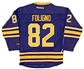 Marcus Foligno Autographed Buffalo Sabres Blue Hockey Jersey