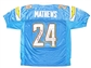 Ryan Mathews Autographed San Diego Chargers Blue On Field Jersey (JSA)