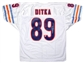 Mike Ditka Autographed Chicago Bears White Football Jersey