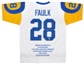 Marshall Faulk Autographed St. Louis Rams Stat Jersey