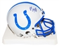 Marvin Harrison Autographed Indianapolis Colts Mini Helmet (JSA)