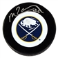 Mike Ramsey Autographed Buffalo Sabres Throwback Hockey Puck
