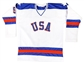 Mike Ramsey Autographed Team USA Miracle On Ice Stat Jersey w/Inscription (JSA)