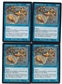 Magic the Gathering Urza's Legacy PLAYSET Cloud of Faeries X4 - SLIGHT PLAY (SP)