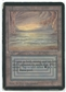 Magic the Gathering Alpha Single Underground Sea - HEAVY PLAY (HP)