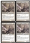 Magic the Gathering Dark Ascension PLAYSET Thalia, Guardian of Thraben X4 - NEAR MINT (NM)