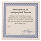 """Muhammad Ali Autographed White Everlast Boxing Trunks w/""""Cassius Clay"""" Inscription"""