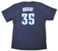 Kevin Durant Oklahoma City Thunder Navy Adidas Gametime T-Shirt (Size Medium)