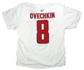 Alexander Ovechkin Washington Capitals White Reebok T-Shirt (Size Medium)