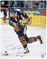 Pat LaFontaine Autographed Buffalo Sabres Throwback 16x20 Hockey Photo
