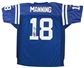 Peyton Manning Autographed Indianapolis Colts Blue Jersey (GAI COA)